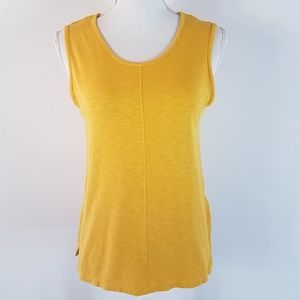 ST. TROPEZ WEST Sleeveless Top Size Small Yellow